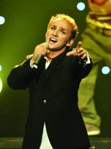 Romania's representative Traistariu performs during the final of the 2006 Eurovision song contest in Athens